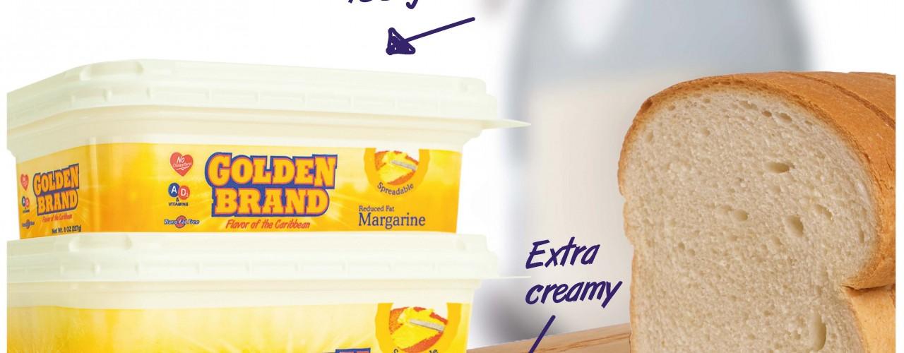"""Golden Brand Margarine introduces """"Golden Brand Spreadable Margarine""""!!"""