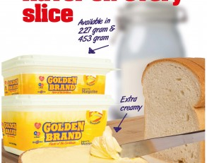 "Golden Brand Margarine introduces ""Golden Brand Spreadable Margarine""!!"